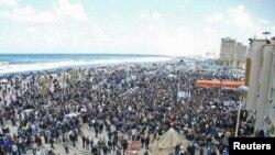 تظاهرکنندگان لیبی در شهر بنغازی