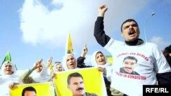 تظاهرة لانصار حزب العمال الكردستاني في اربيل