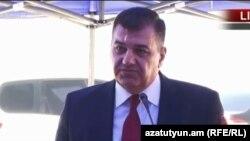 Министр транспорта, связи и информационных технологий Армении Ашот Акопян, Талин, 18 июля 2018 г.