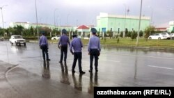 Ашхабадская полиция (архивное фото)