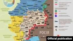 Ситуація в зоні бойових дій на Донбасі, 4 листопада 2019 року. Інфографіка Міністерства оборони України