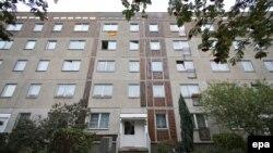 Жилой дом в Лейпциге, где был арестован Джабер Аль-Бакр.