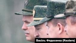 """Аляксандар Лукашэнка падчас наведваньня вучэньняў """"Захад-2017"""""""