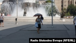 Summer and hot weather in Skopje