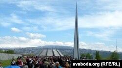 Armenia - Armenians mark the 100th anniversary of the Armenian genocide in Ottoman Turkey, Yerevan, 24Apr2015