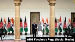 Presidenti afgan, Ashraf Ghani dhe kryeministri indian, Narendra Modi, gjatë takimit të tyre në Nju Delhi