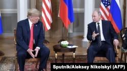 Дональд Трамп и Владимир Путин, Хельсинки, 16 июля 2018 года