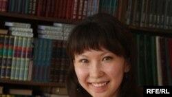 Жадыра Есенаева, выпускница Чириковской средней школы Есильского района Северо-Казахстанской области.