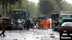 Кабулда ИМ тобу жоопкерчилик алган соңку жардыруу. 3-май, 2017-жыл.