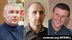 Затрыманыя 21 сакавіка: Міраслаў Лазоўскі, Алесь Яўдаха, Андрэй Дундукоў. Архіўныя здымкі