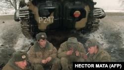 Российские военнослужащие в Чечне (декабрь 1994 года)