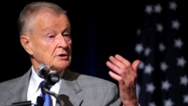 Zbigniew Brzezinski is a former national security adviser to U.S. President Jimmy Carter.