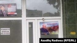 Bakıda parlament seçkisində namizədlərin təbliğat plakatları