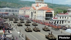 Nagorno-Karabakh - A military parade in Stepanakert, 9May2012.
