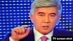 "Сопредседатель ОСДП ""Азат"" Жармахан Туякбай. Алматы, 12 января 2012 года."