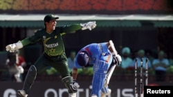 Pakistan and India faced off in a semifinal match at the ICC Cricket World Cup in Mohali, India, in March 2011.