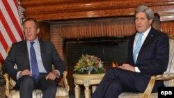 Госсекретарь США Джон Керри и министр иностранных дел России Сергей Лавров, Рим, 14.12.2014