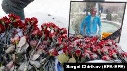 Портрет погибшего пилота Романа Филиппова, 6 февраля 2017 года