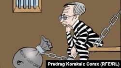 Serbiýaly karikaturaçy Miroslaw Miskowiçiň çeken karikaturasy