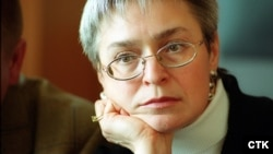 """Anna Politkovskaya: """"We are hurtling back into a Soviet abyss, into an information vacuum that spells death from our own ignorance,"""" she wrote in 2004."""