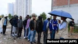 Migranti u Parizu, 2017.