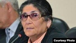 Кандидат в президенты Таджикистана Ойнихол Бобоназарова.