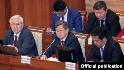 Члены правительства Кыргызстана.