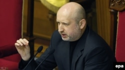Ukraina prezidenti vakolatlarini vaqtincha qabul qilib olgan parlament raisi Aleksandr Turchinov.