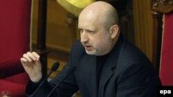 Украина президенти ваколатларини вақтинча қабул қилиб олган парламент раиси Александр Турчинов.