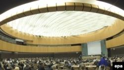 Идет заседание Совета ООН по правам человека. Женева, 12 января 2009 года.