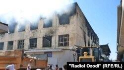 """Рынок """"Фаровон"""" после пожара"""