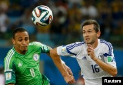 Peter Odemwingie (left) insisted on playing for Nigeria even though Russia was where he was born.