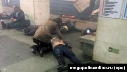 Sankt-Peterburq metrosunda partlayış.