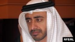شیخ عبدالله بنزاید آل نهیان، وزیر امور خارجه امارات