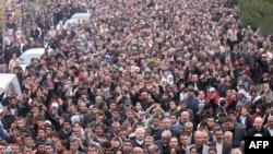 Дэманстрацыя курдаў у Турэччыне