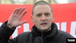 """""""Солшыл майдан"""" оппозициялық қозғалысының жетекшісі Сергей Удальцов."""