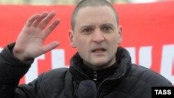 Sergei Udalțov la o demonstrație la Moscova