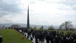 Հայոց ցեղասպանության զոհերի հուշահամալիրը Երեւանում: 24-ը ապրիլի, 2011թ.