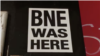 Стикер на BNE в София