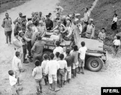 Союзники на 38-й параллели в Корее.