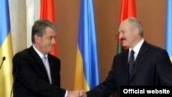 Віктар Юшчанка і Аляксандар Лукашэнка
