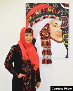 Түркиялык кыргыз сүрөтчү Тажигүл Күнтүз