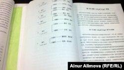 Шыңжан медицина университетінде оқытылатын қазақ дәстүрлі медицинасы туралы оқулықтар. Үрімжі, ақпан, 2013 жыл.