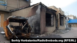 Разрушенный магазин в Славянске, 13 июля 2014 года (иллюстративное фото)