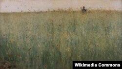 Карл Нордстрам, «Поле аўса ў Грэзе» (1885).