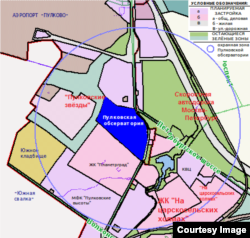 План застройки охранной зоны Пулковской обсерватории