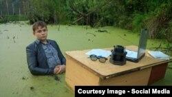 16-летний Игорь Назаров устроил фотосессию в болоте для участия в интернет конкурсе