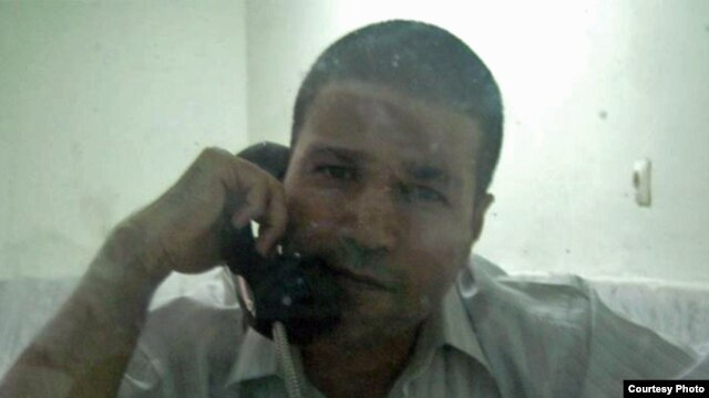 Iranian journalist Ehsan Mehrabi in a photo he provided from Evin prison