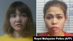 از راست: ستی عایشه، شهروند اهل اندونزی و دوان تی هوانگ، شهروند ویتنامی