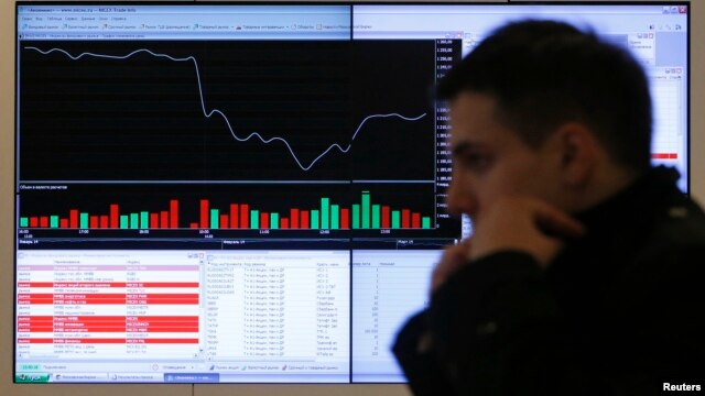As investors look to get out of Russia, the country's economy could face a slump comparable to the financial crisis of 2008. (file photo)
